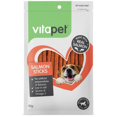 Vitapet Salmon Sticks Treats For Dogs 80g