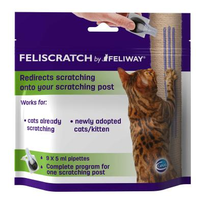 Complete Scratch Training Solution For Stressed Cats - Feliway Diffuser With Feliscratch And Kazoo Small Post For Kittens And Cats