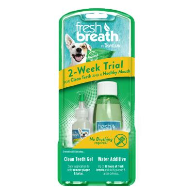 Tropiclean Fresh Breath Dental Trial Kit With Clean Teeth Gel And Water Additive For Dogs