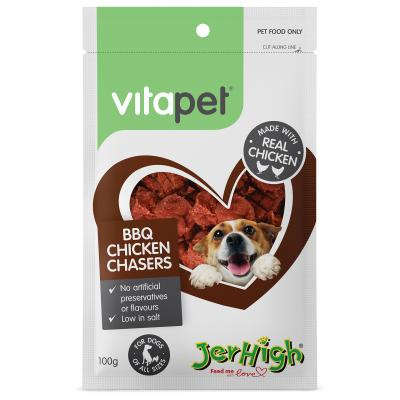 Vitapet Jerhigh BBQ Chicken Chasers Treats For Dogs 100gm