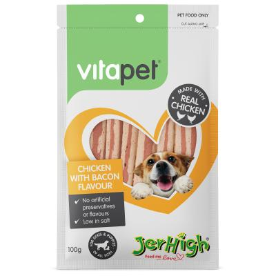 Vitapet Jerhigh Chicken And Bacon Treats For Dogs 100g