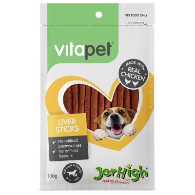 Vitapet Jerhigh Liver Training Sticks Treats For Dogs 100gm