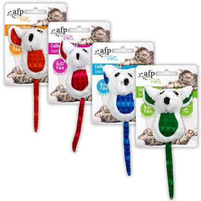 AFP Modern Cat Various Colour Culbuto Mouse With Crinkle Toy For Cats