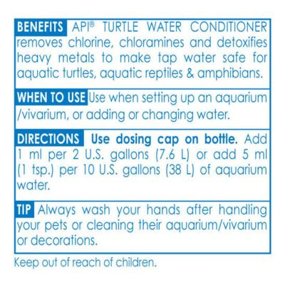 API Turtle Water Conditioner For Reptile And Frog Aquarium 237ml