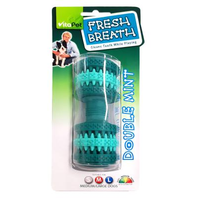 Vitapet Fresh Breath Rubber Dumbell Medium/Large Toy For Dogs