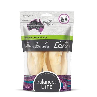 Balanced Life Lamb Ear Dried Treats For Dogs 3 Pack