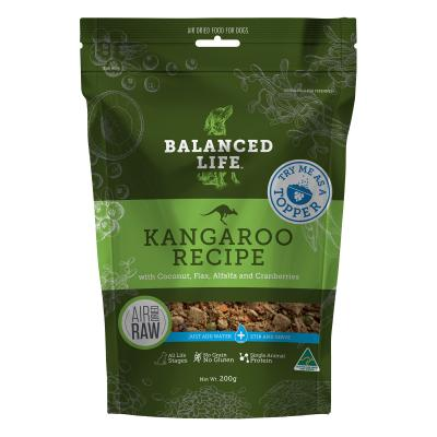Balanced Life Rehydrate Kangaroo Recipe Natural Air Dried Meat Dog Food Topper 200gm