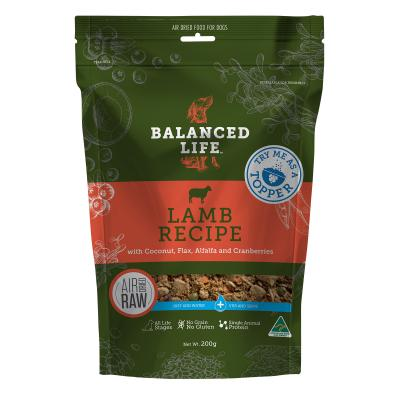 Balanced Life Rehydrate Lamb Recipe Natural Air Dried Meat Dog Food Topper 200gm