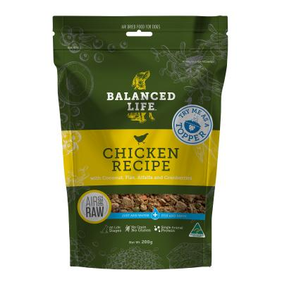 Balanced Life Rehydrate Chicken Recipe Natural Air Dried Meat Dog Food Topper 200gm
