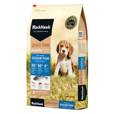 Black Hawk Grain Free Puppy Ocean Fish Dry Dog Food 15kg