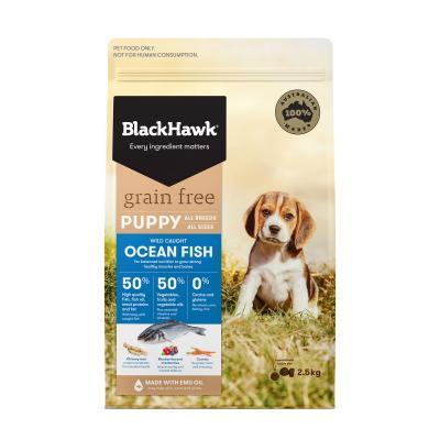 Black Hawk Grain Free Puppy Ocean Fish Dry Dog Food 2.5kg