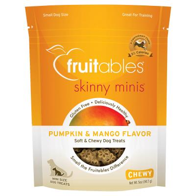 Fruitables Skinny Mini Pumpkin And Mango Grain Free Soft Baked Treats For Dogs 141gm