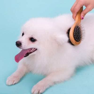 True Love Grooming Double Brush Bamboo Medium For Cats And Dogs