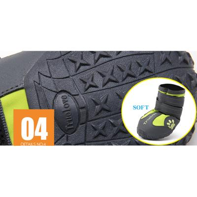 True Love Elantra Active Outdoor Boots Black Shoes For Dogs Size 7