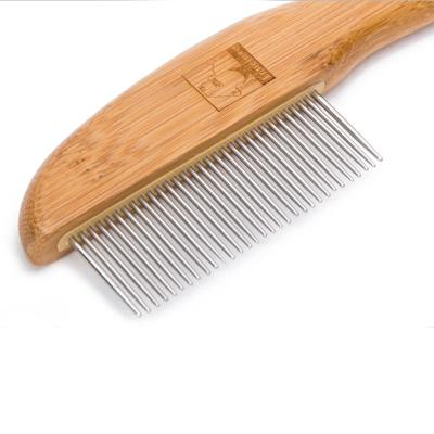 True Love Grooming 31 Stainless Steel Tooth Comb Bamboo Brush For Cats And Dogs