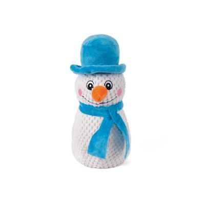 Kazoo Christmas Plush Snowman Squeak Medium Toy For Dogs