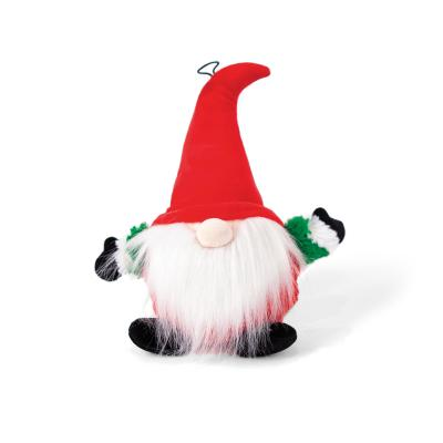 Kazoo Christmas Plush Gnome With Squeak Space Ball Small Toy For Dogs