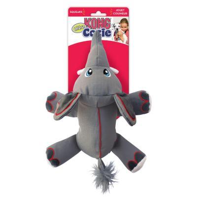 KONG Cozie Ultra Ella Elephant Plush Squeak Medium Toy For Dogs
