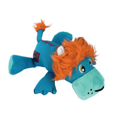 KONG Cozie Ultra Lucky Lion Plush Squeak Medium Toy For Dogs