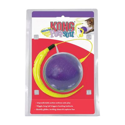 KONG Purrsuit Whirlwind Feather Ball Chase Toy For Cats