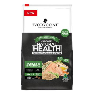 Ivory Coat Turkey And Brown Rice Large Breed Adult Dry Dog Food 18kg
