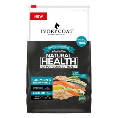 Ivory Coat Salmon And Brown Rice Senior Mature Dry Dog Food 18kg