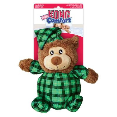 KONG Comfort Snuggles Plush Squeak Bear Lavender Scented Assorted Colour Large Toy For Dogs