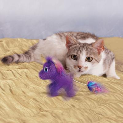 KONG Enchanted Buzzy Unicorn Catnip Plush Toy For Cats