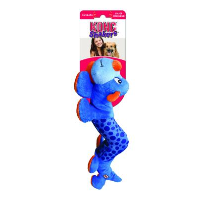 KONG Shakers Caterpillar Squeak Plush Blue Large/XLarge Toy For Dogs