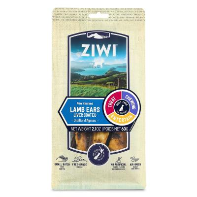 Ziwi Peak Lamb Ears Liver Coated Dried Chew Treats For Dogs 8 Pieces 60gm