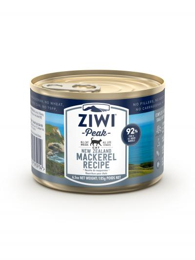 Ziwi Peak Grain Free Mackerel Kitten And Adult Canned Wet Cat Food 12 x 185gm