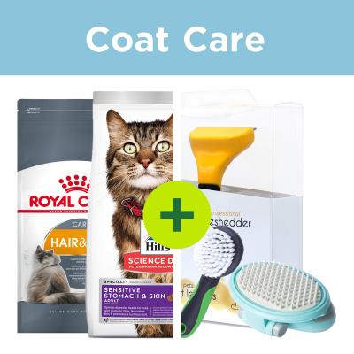 Coat Care - Premium Food Plus Grooming Brushes For Cats