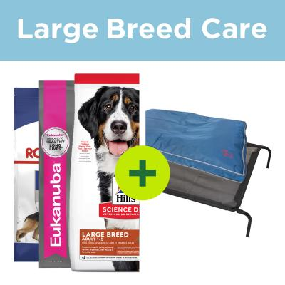 Large Breed Care - Premium Food Plus Big Beds For Dogs