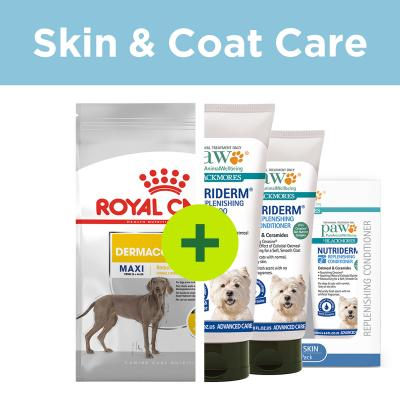 Sensitive Skin Care - Royal Canin Dermacomfort Food Plus Shampoo And Conditioner For Dogs