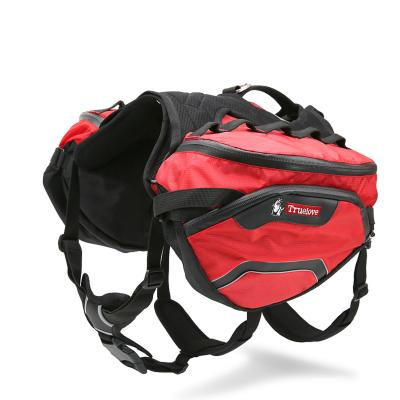 True Love Outdoor Activity Backpack Harness Travel Bag Red Large For Dogs