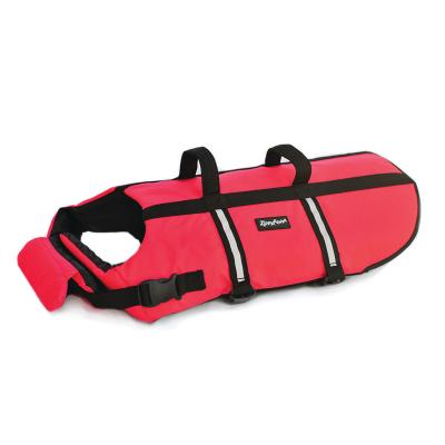 Zippy Paws Water Sport Flotation Life Vest Jacket Red Medium (Girth Size 52-68cm) For Dogs
