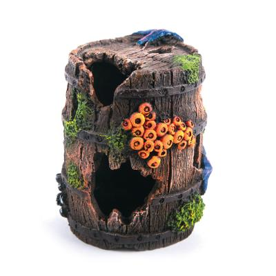Kazoo Aquarium Barrel Medium Ornament For Fish Tank