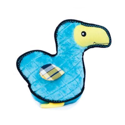 Zippy Paws Z-Stitch Grunterz Dodo The Dodo Bird Plush Squeak Toy For Dogs