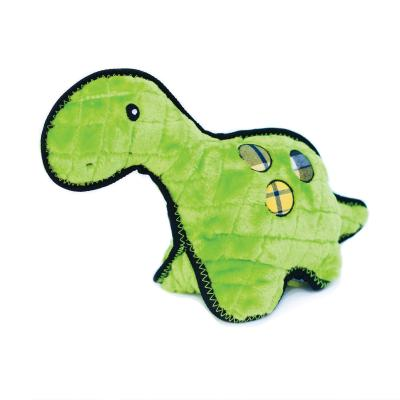 Zippy Paws Z-Stitch Grunterz Donny The Dinosaur Plush Squeak Toy For Dogs