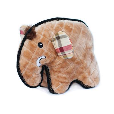 Zippy Paws Z-Stitch Grunterz Manny The Mammoth Plush Squeak Toy For Dogs