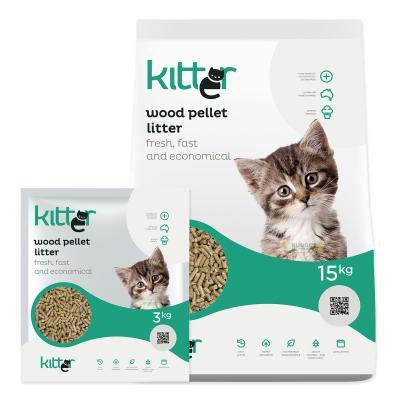 Kitter Wood Pellet Cat Litter 18kg
