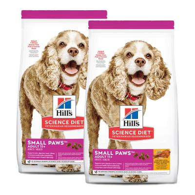 Hills Science Diet Small Paws Chicken Meal Barley Brown Rice Recipe Small/Toy Breed 11+ Mature/Senior Dry Dog Food 4.08kg (2533)