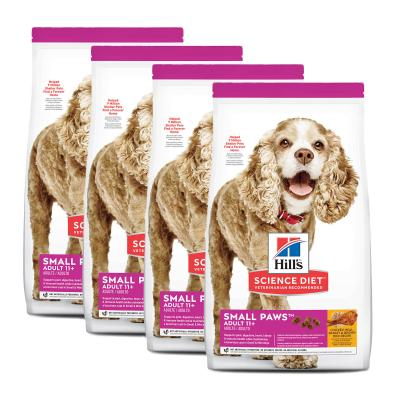 Hills Science Diet Small Paws Chicken Meal Barley Brown Rice Recipe Small/Toy Breed 11+ Mature/Senior Dry Dog Food 8.16kg (2533)