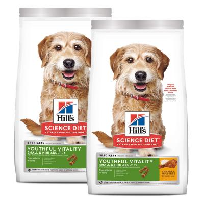 Hills Science Diet Youthful Vitality Small/Toy/Mini Breed Chicken And Rice 7+ Mature/Senior Dry Dog Food 3.16kg  (10770)