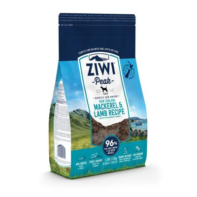 Ziwi Peak Grain Free Mackerel And Lamb Puppy And Adult Air Dried Meat Dog Food 2.5kg