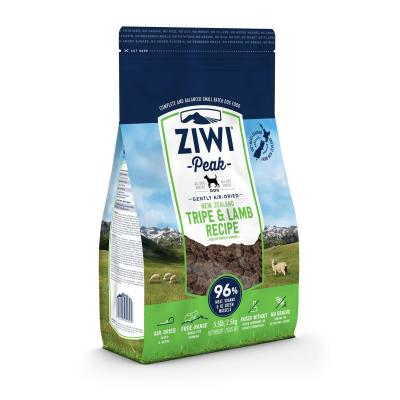 Ziwi Peak Grain Free Tripe And Lamb Puppy And Adult Air Dried Meat Dog Food 2.5kg