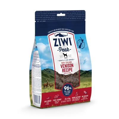 Ziwi Peak Grain Free Venison Puppy And Adult Air Dried Meat Dog Food 454gm