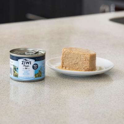 Ziwi Peak Grain Free Hoki Kitten And Adult Canned Wet Cat Food 12 x 185gm