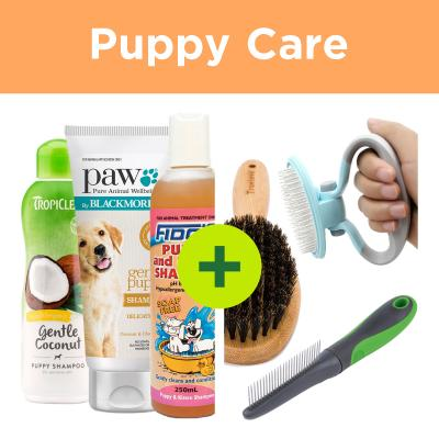 Puppy Grooming - Shampoo Plus Brush For Dogs