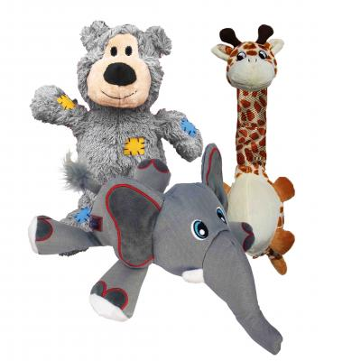KONG Cuddly Toys Multipack Large For Puppy And Dogs